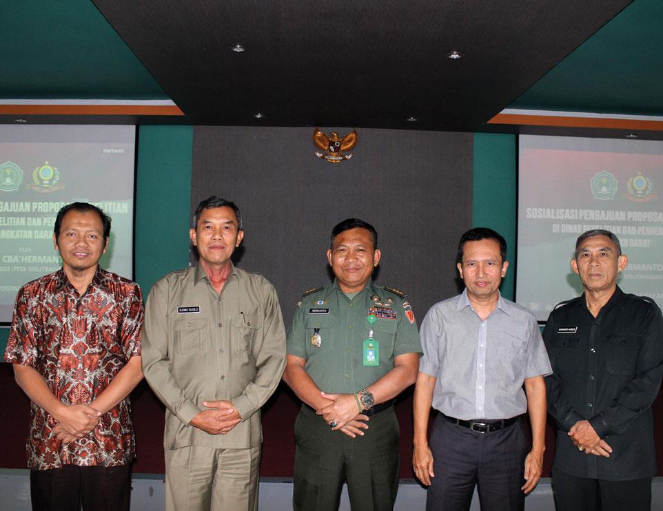 Sosialisasi Pengajuan Proposal Penelitian Dislitbangad di Unjani Yogyakarta