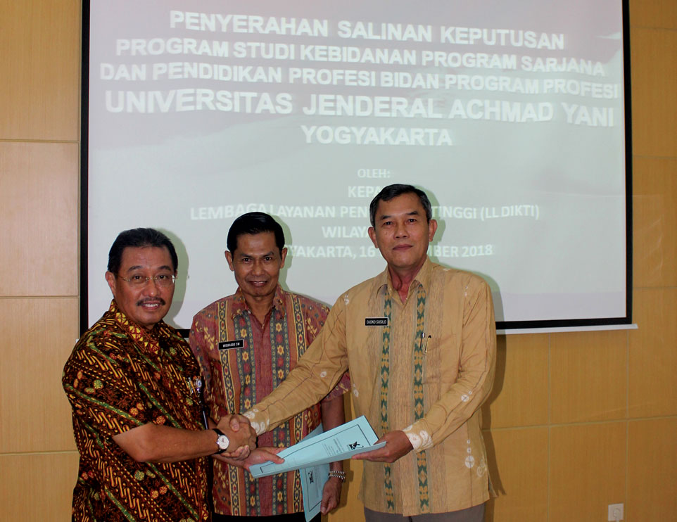 Unjani Yogyakarta Terima SK Prodi Kebidanan Program Sarjana dan Profesi