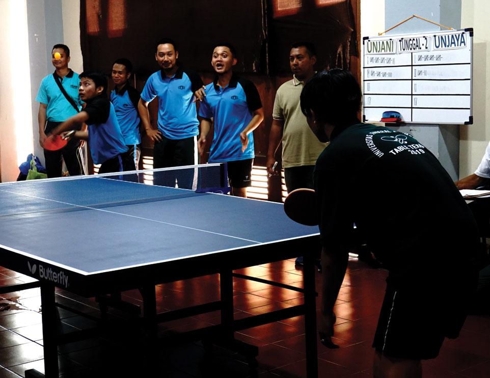 Tim Tenis Meja Putra Tambah Medali Emas Kontingen Unjani Yogyakarta
