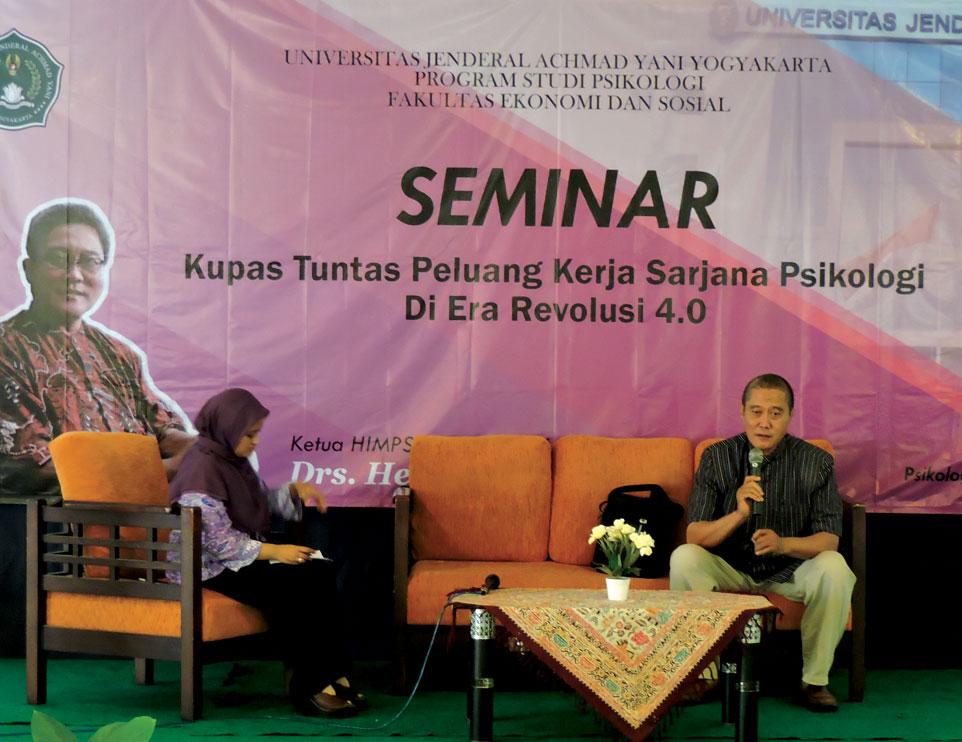 FES Unjani Yogyakarta Gelar Seminar Psikologi di Era Revolusi 4.0