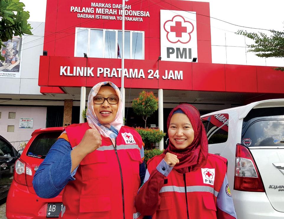 Bersinergi dengan PMI DIY, Unjani Yogyakarta Dukung Posko Lebaran 2019