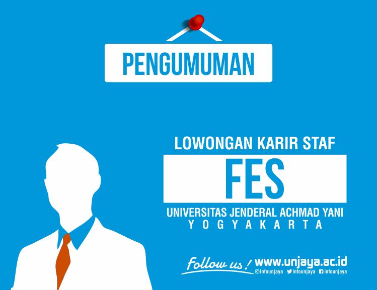 Lowongan di Fakultas Ekonomi Sosial Unjani Yogyakarta