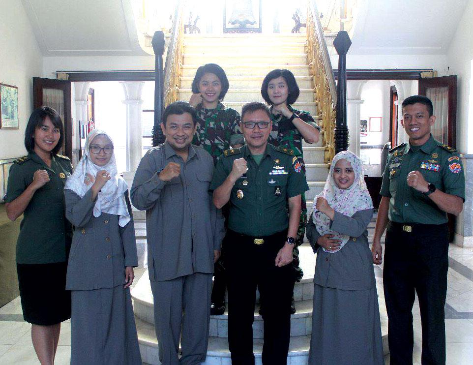 Siapkan Kajian Psikologi Militer Prodi Psikologi Unjani Yogyakarta Berkunjung ke Dispsiad