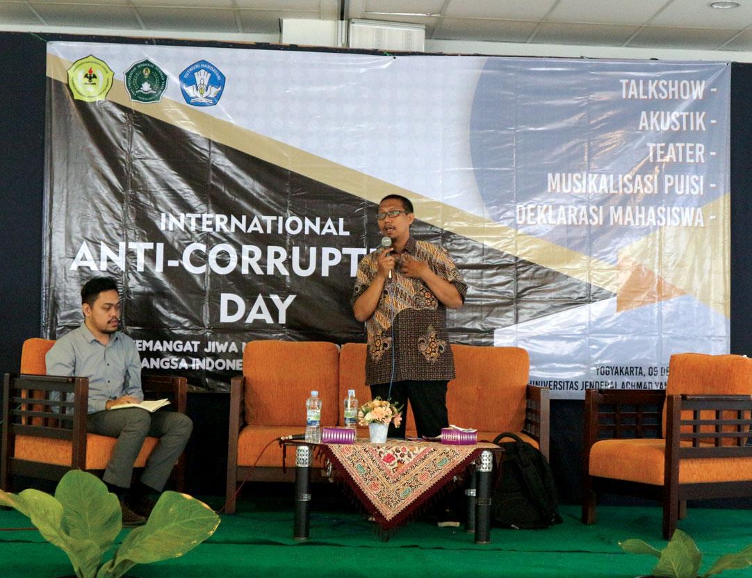 Himakum Unjani Yogyakarta Peringati International Anti Corruption Day