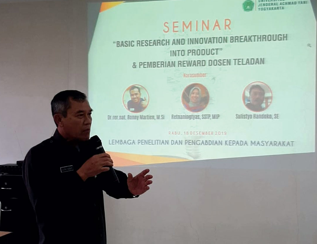 Seminar Basic Research and Innovation LPPM Unjani Yogyakarta
