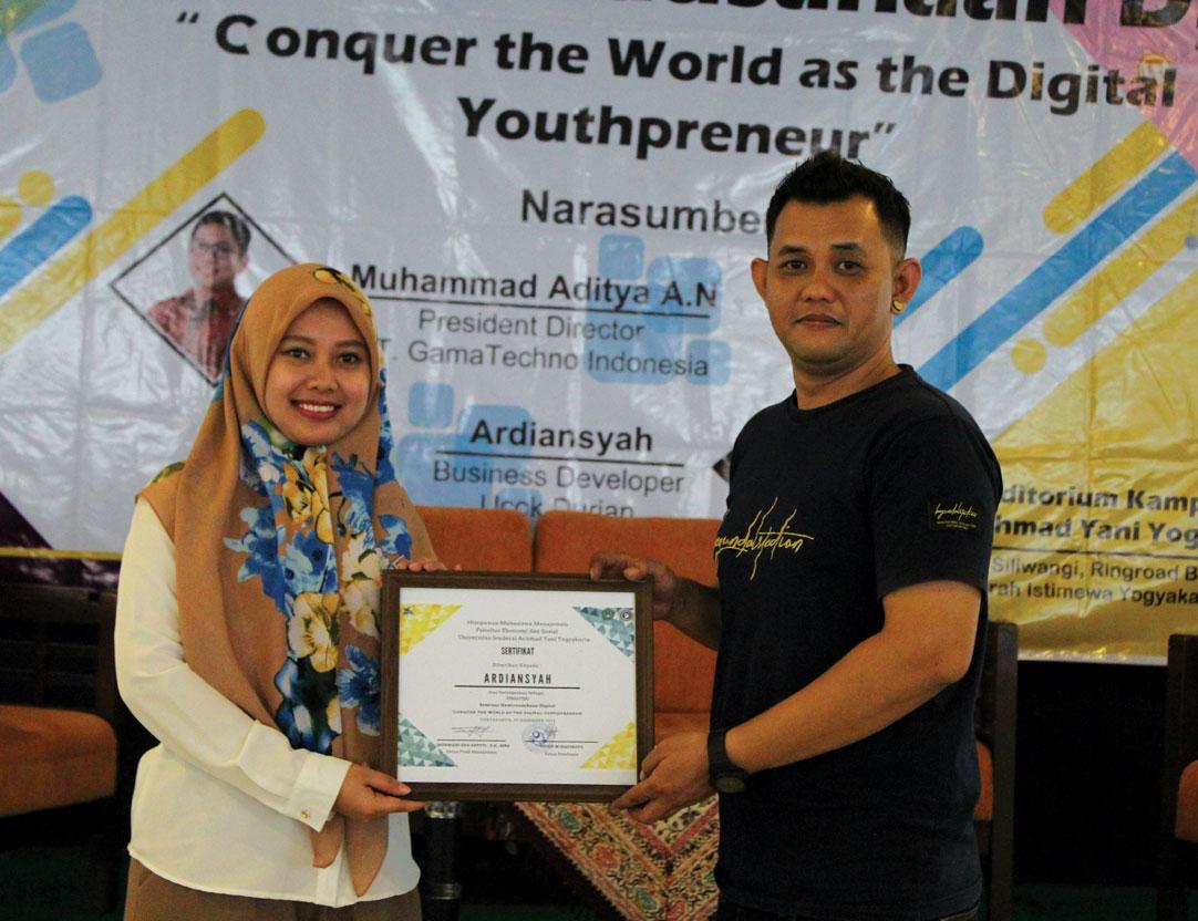 HIMMA Unjani Yogyakarta Selenggarakan Seminar Kewirausahaan Digital