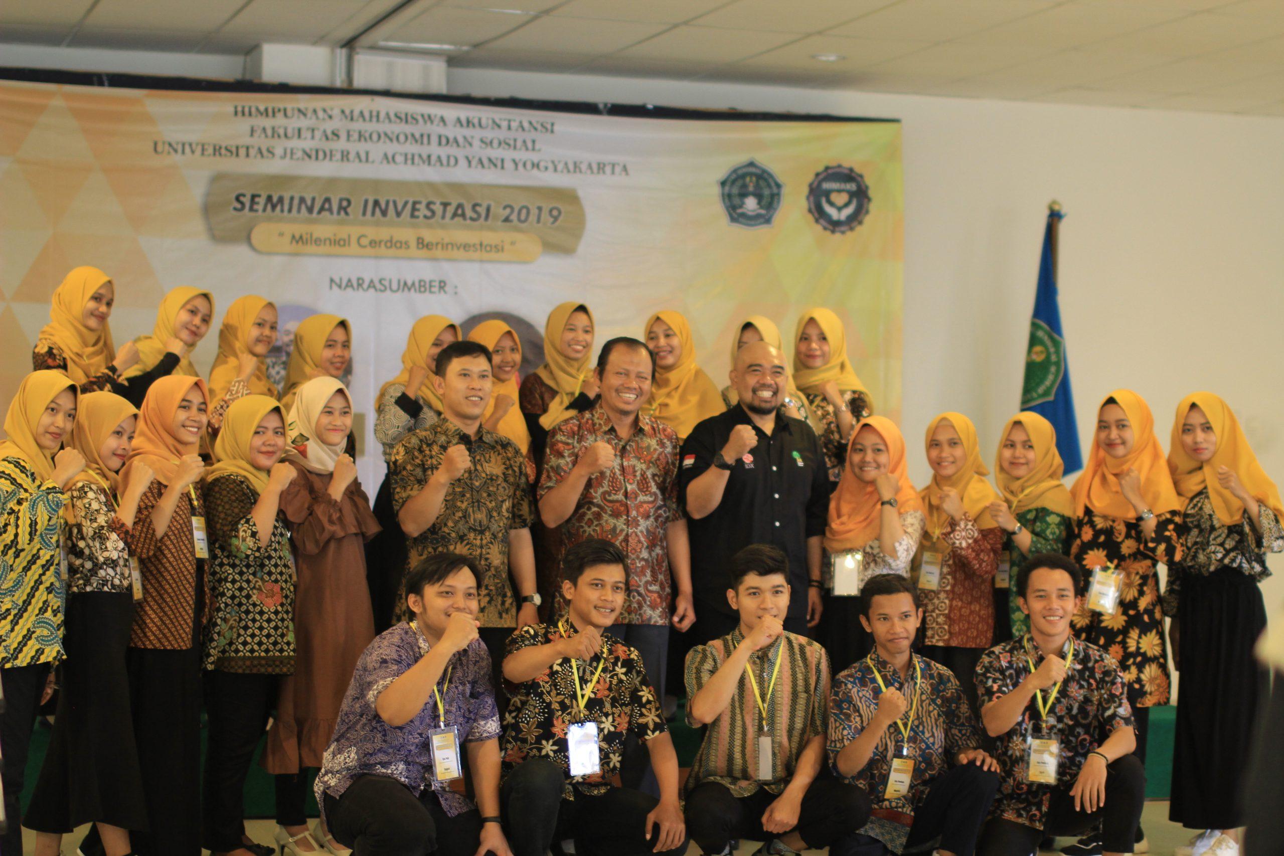 Prodi Akuntansi Gelar Seminar Investasi 2019: Milenial Cerdas Berinvestasi