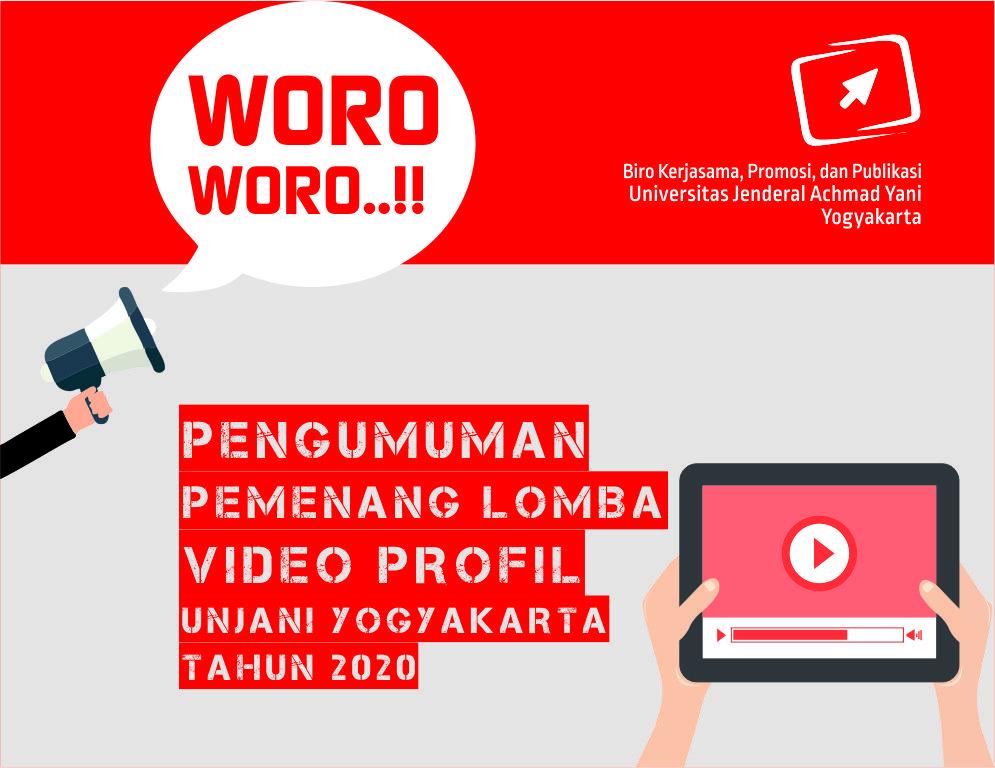 Pengumuman Pemenang Lomba Video Profil Unjani Yogyakarta 2020
