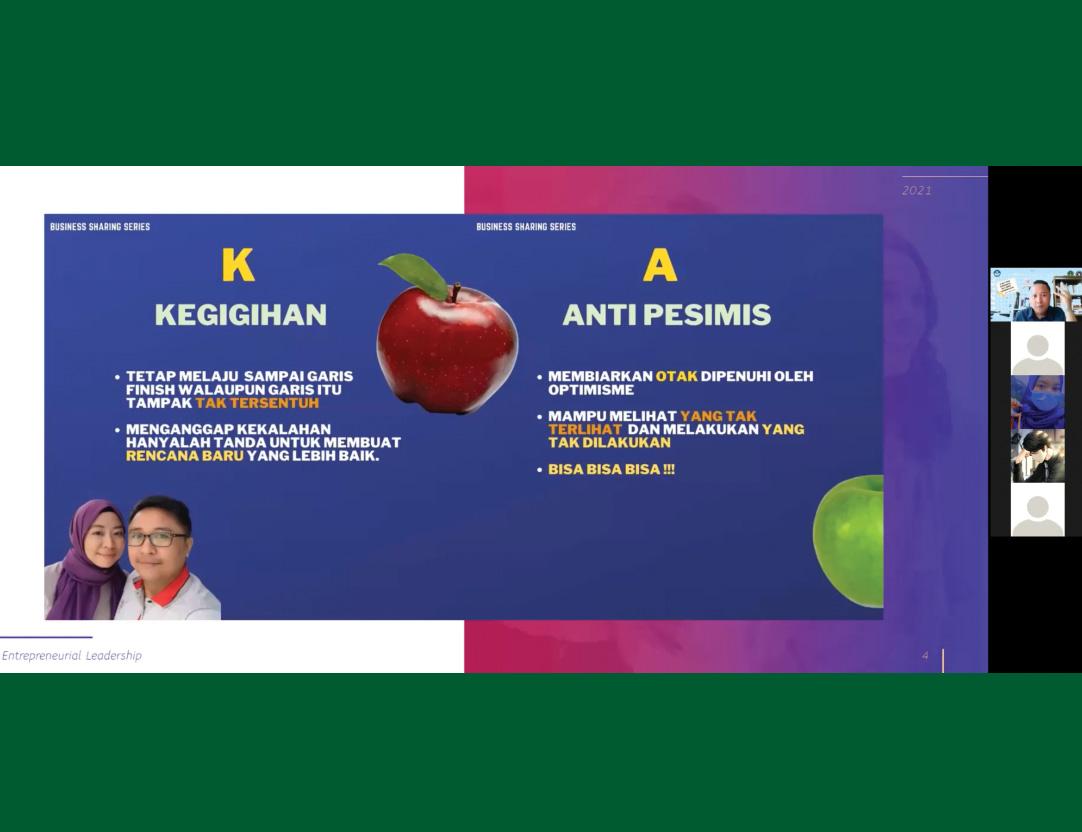 "Webinar Kewirausahaan ""Start Your Experience Be A Great Enterpreneur"""